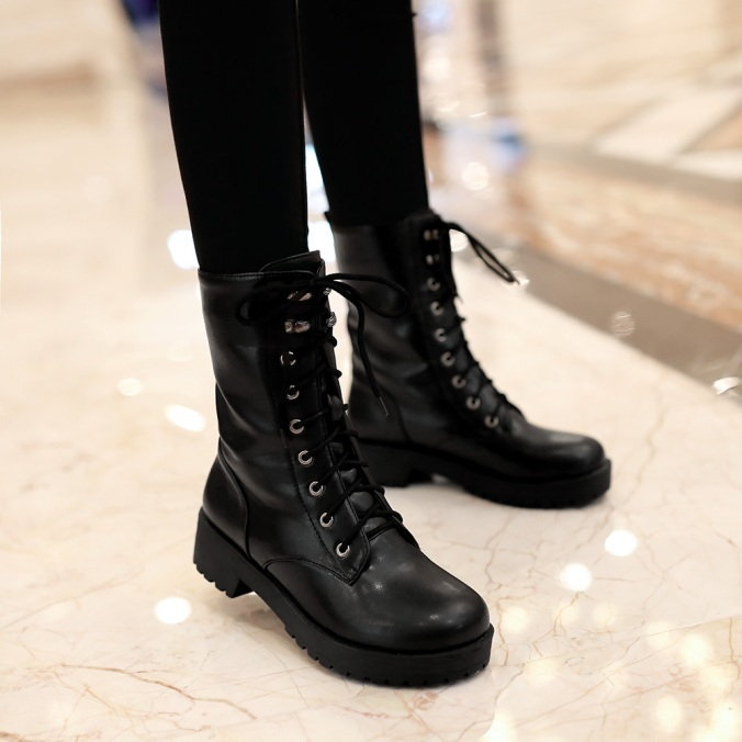 2016new-martin-boots-ankle-boots-women-shoes-flat-round-toe-motorcycle-boots-combat-boots-large-size